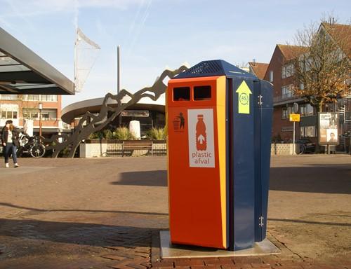 Buizerd Quattro afvalbak - Helden van Staal