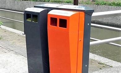 Duo Buizerd afvalbak - Helden van Staal